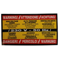 "ADESIVO ""WARNING"""