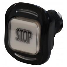Pulsante Stop arcuato nero